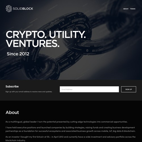 SolidBlock | Website Design and Development for a Blockchain Company