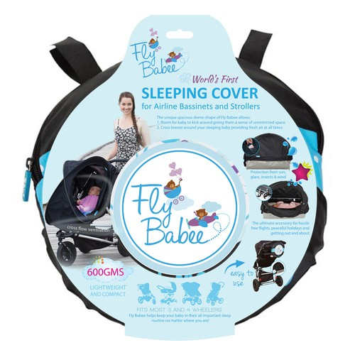 Packaging for Sleeping Cover for Airplane Bassinets and Strollers