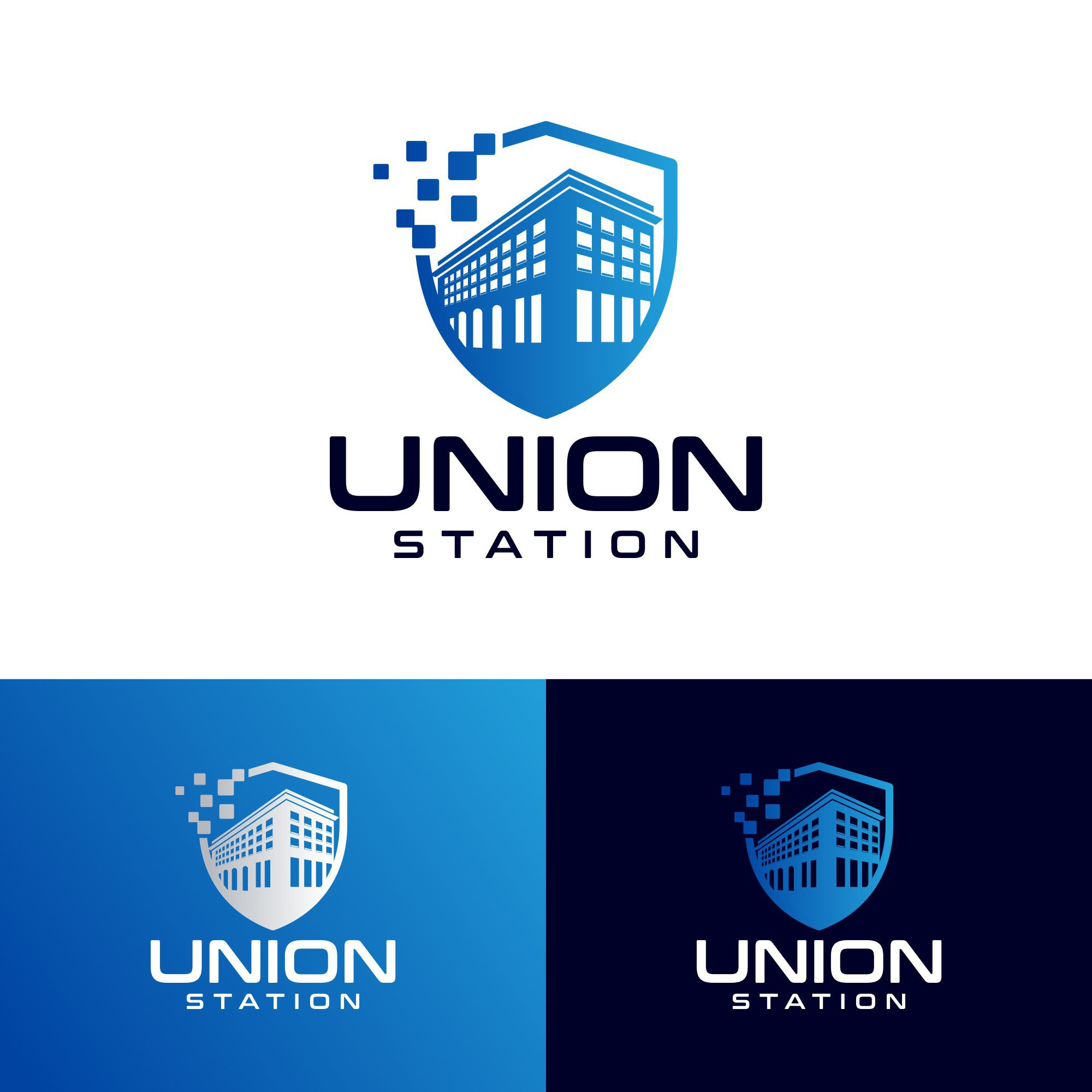 """Attractive logo for """"Union Station"""" security system software"""