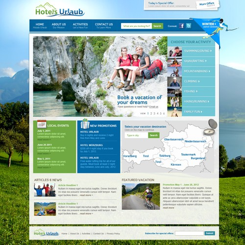 Help Hotels-Urlaub New Website Design