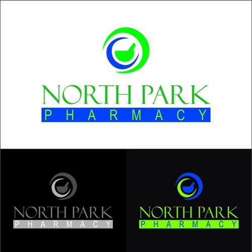 Create a logo for an old fashioned neighborhood pharmacy
