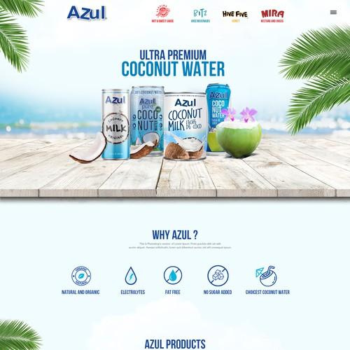 Food and drink beverages website design