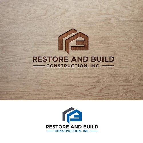 Bold logo concept for Restore and build construction