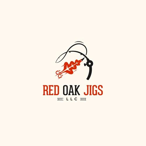 """Logo design for """"Red Oak Jigs"""""""
