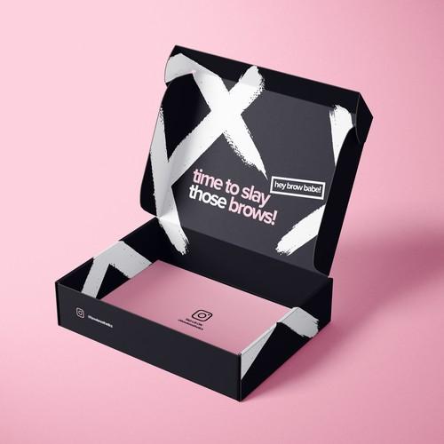 Bold and vibrant shipping box design