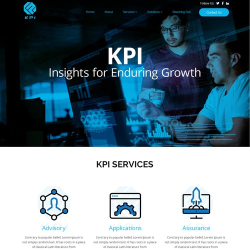 Web Page Design for KPI