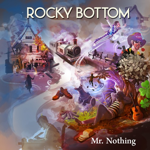An Illustration for Rocky Bottom Album Cover
