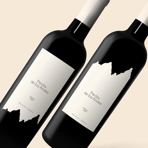 Piedra de los Andres / Red Wine Label