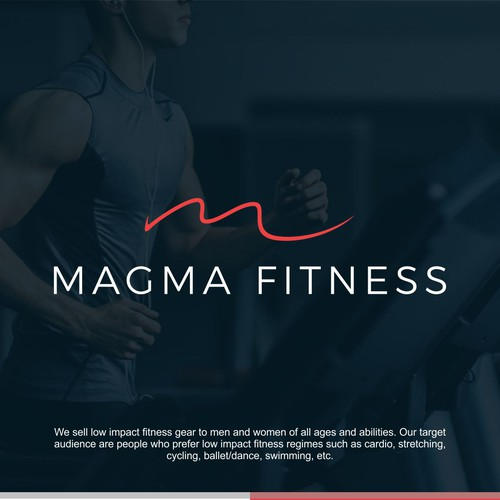 Magma Fitness - logo for health and fitness ecommerce store