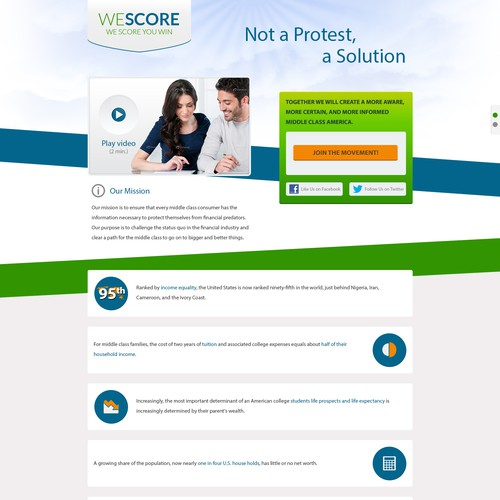 weScore needs a new website design