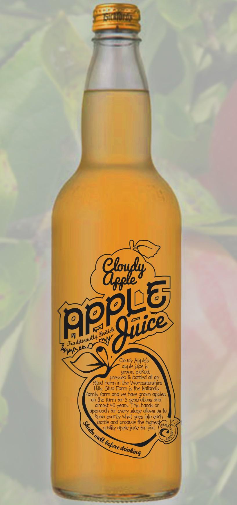 Create innovative design for traditional apple juice company