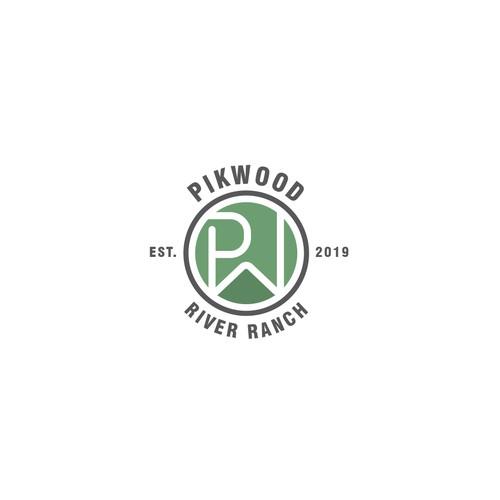 Pikwood Logo Design