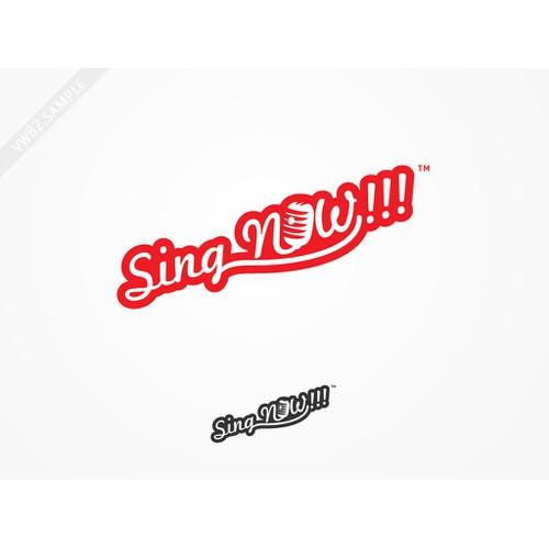 Sing NOW!!! logo concept
