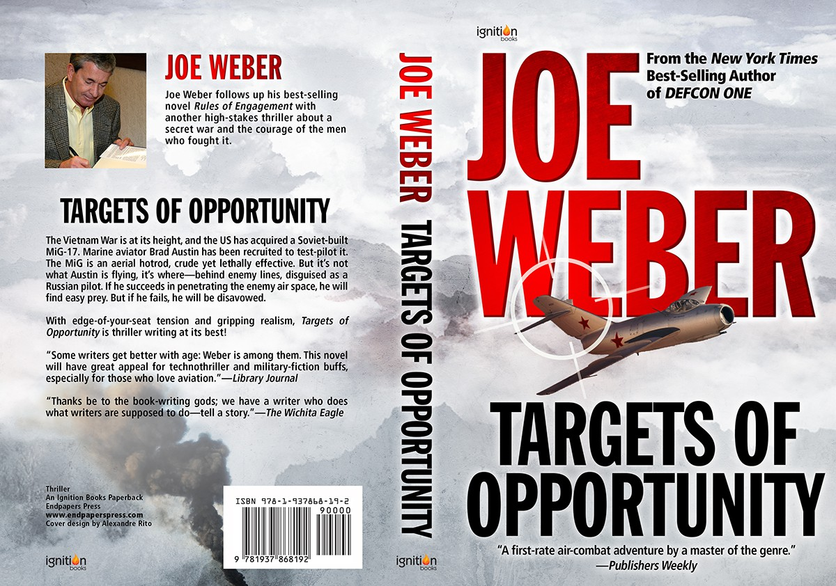 Design a new cover for the reissue of TARGETS OF OPPORTUNITY, by NY Times best-selling author, Joe Weber