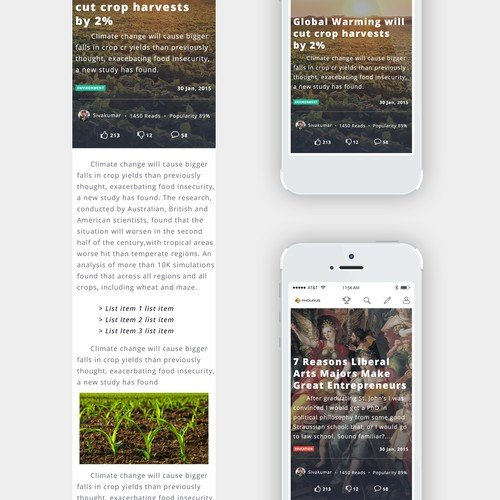 Article Design - Responsive Layout