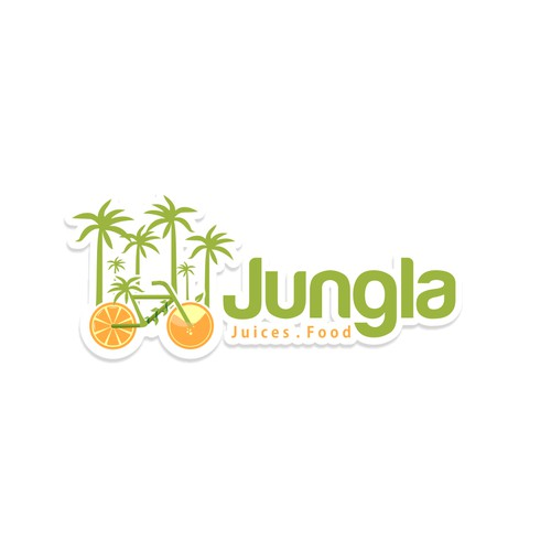 Create the brand logo for a Juice bar in the Mexican Caribean with the name Jungla