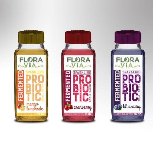 label for probiotic drink