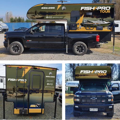 Camper Wrap for a FISHING TOUR
