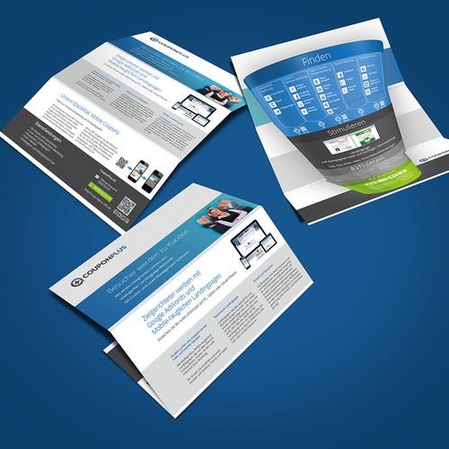 Kreative Beratungsbroschüre für Start-up CouponPlus!