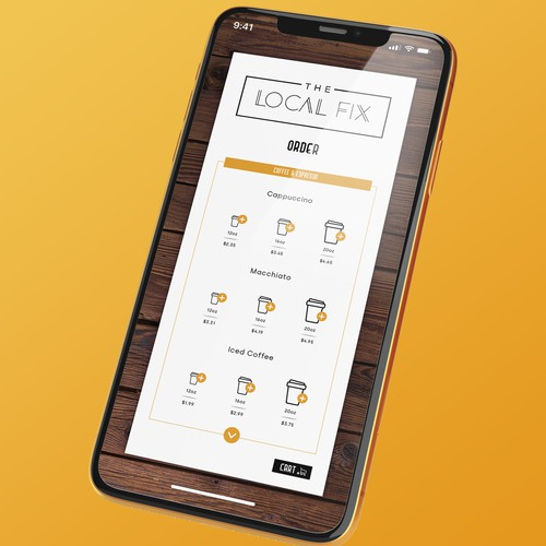 App concept for Coffee Shop