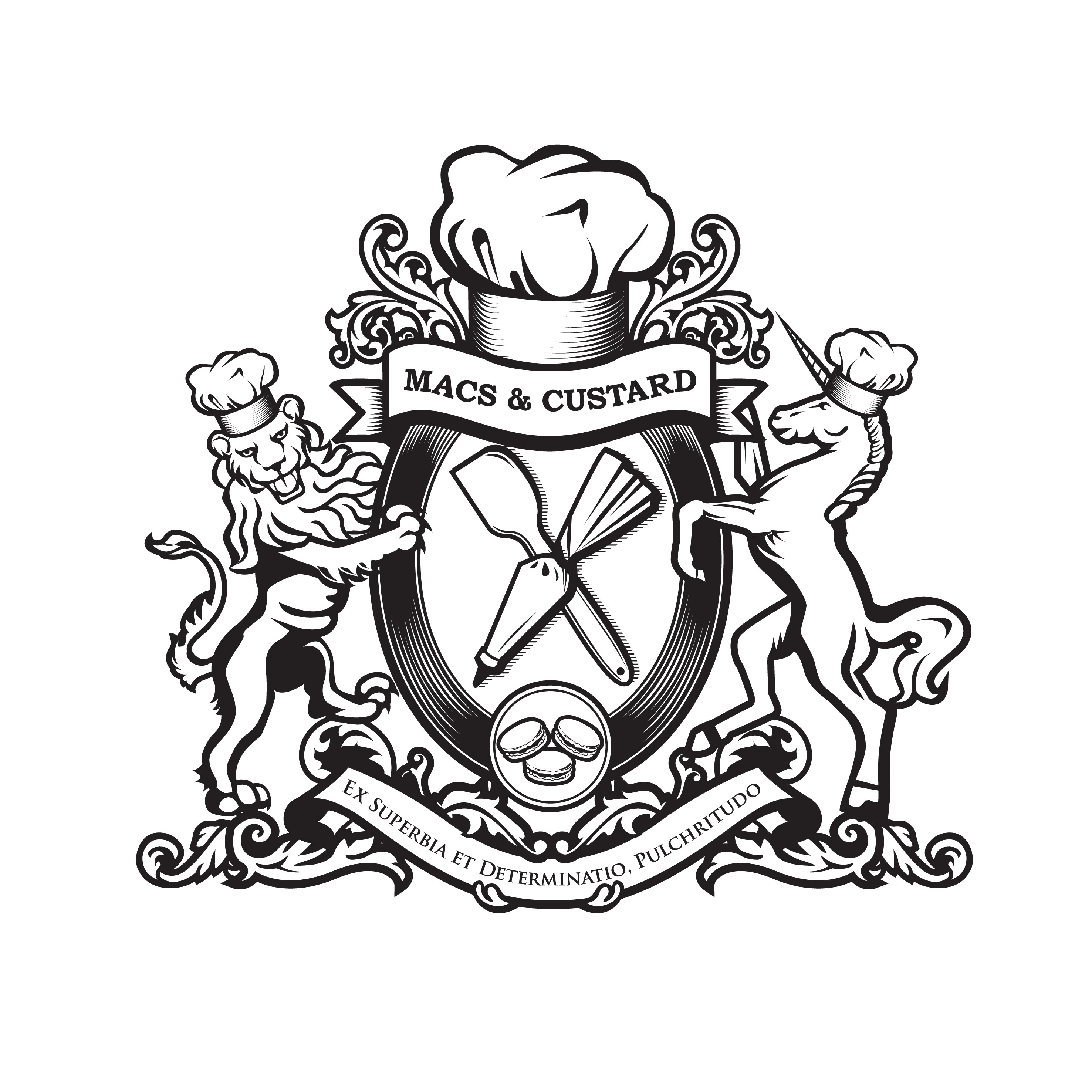 Macs & Custard logo design
