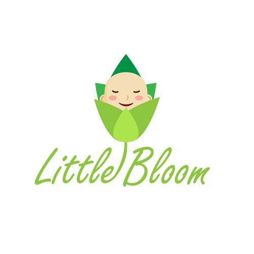 Clean, Green, and Calming logo for Baby company