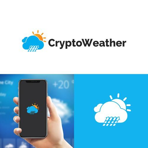CryptoWeather Logo Desin