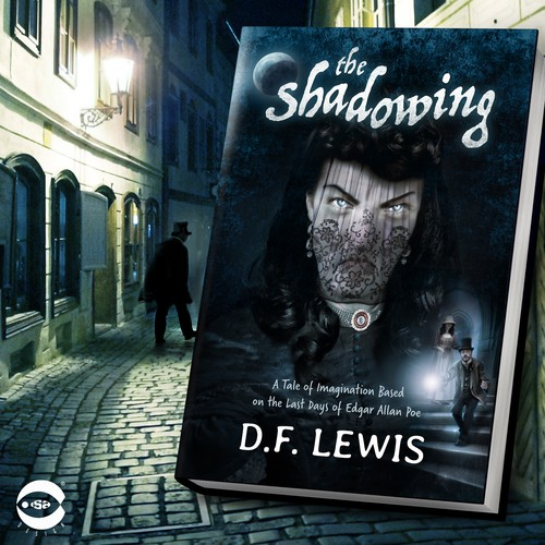 "Book cover for ""The Shadowing"" by D.F. Lewis"