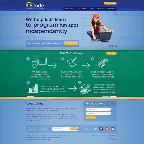 Homepage +1 design for UCode