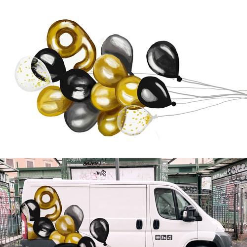 Gold ballon design