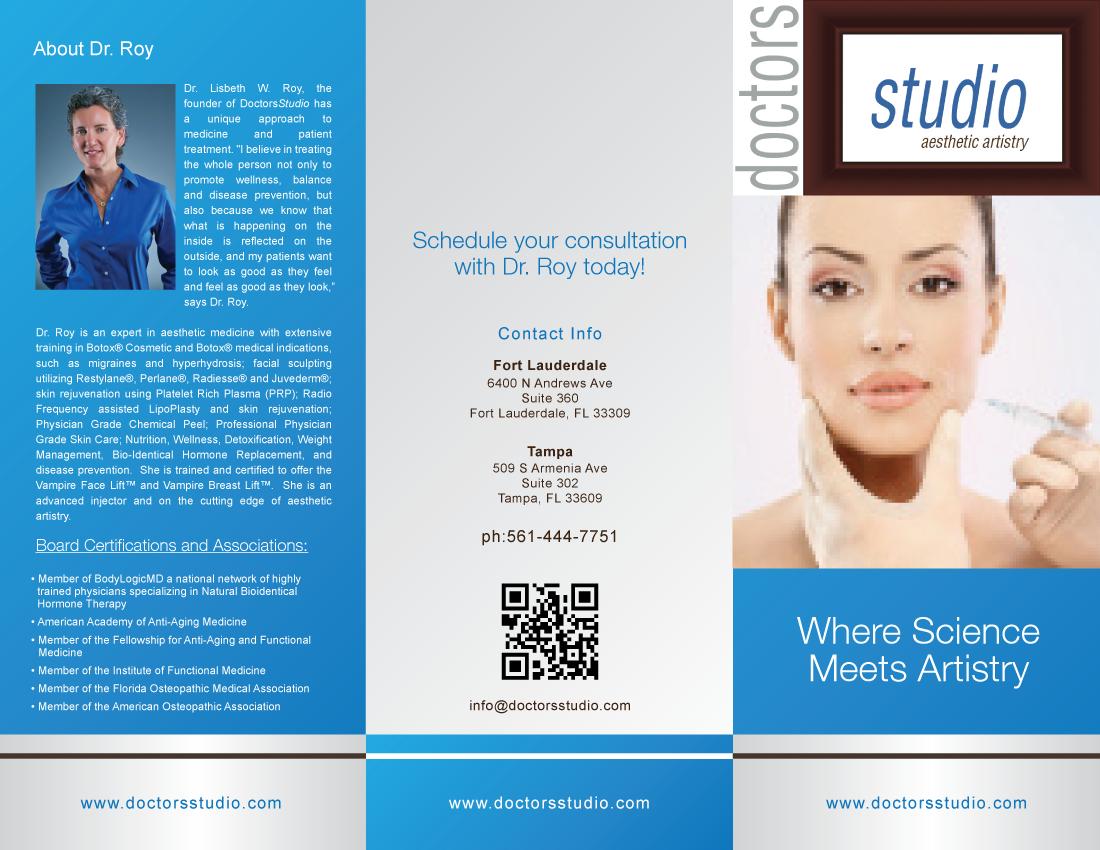 New brochure design wanted for Doctors Studio
