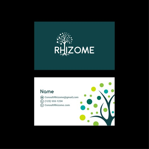Logo and Business Card Design for Rhizome