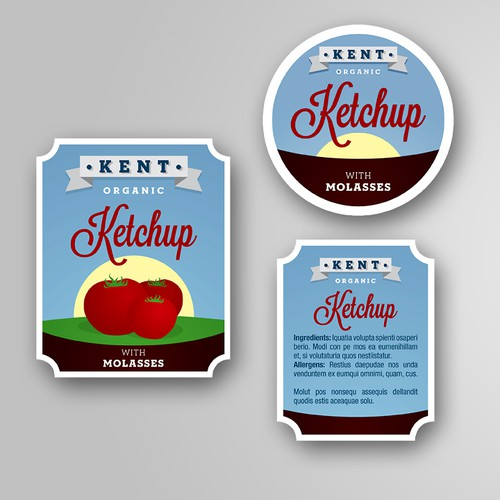 Kent Ketchup Product Label