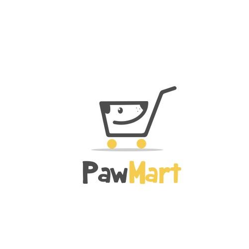 dog + shopping cart