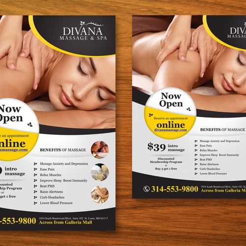 Poster for Massage Therapy Spa