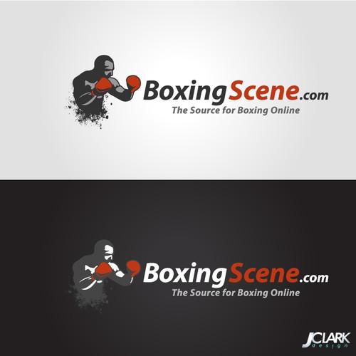 The winning design for BoxingScene.com