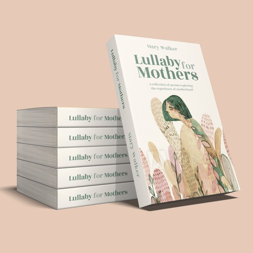 Create a stunning book cover for a collection of poetry about motherhood