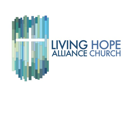 Concept for Church Logo based on existing stained glass architecture.