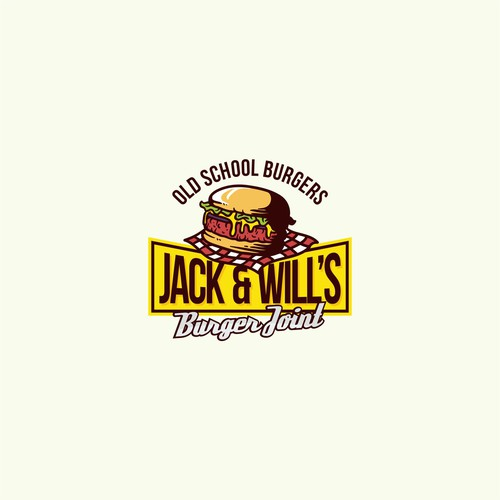 logo concept for jack & will's burger joint