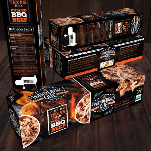 BBQ package design.