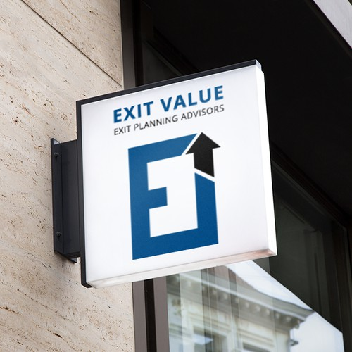 Conception of logo for ExitValue.com Exit Planning Advisors