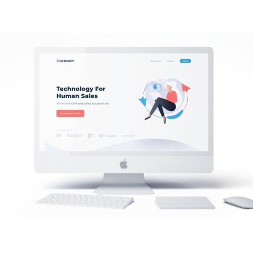 All in one CRM homepage Design