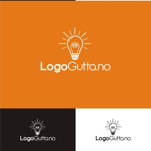 Simple clean and negative space design for LogoGutta