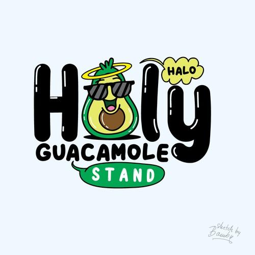 avocado mascot logo