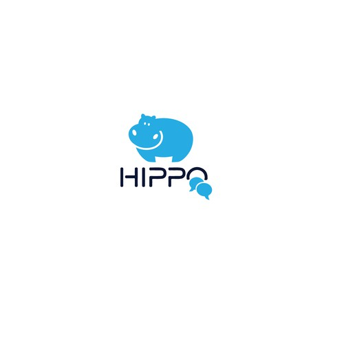 Logo Concept for Hippo chat Application.