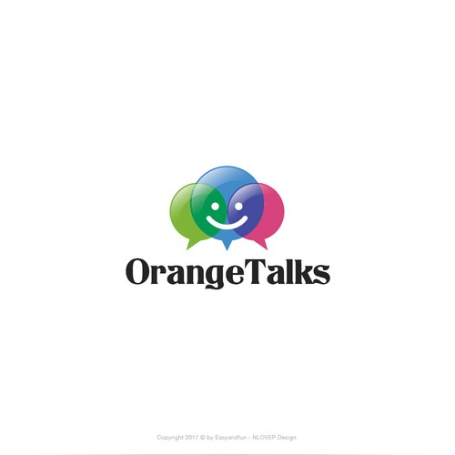 Logo concept for 'OrangeTalks'