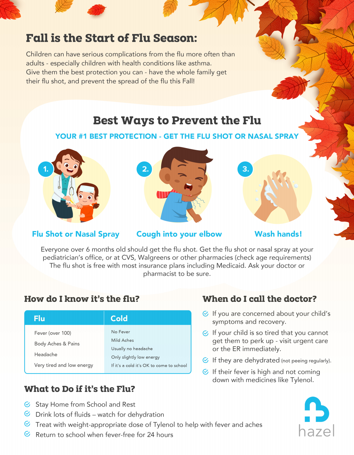 Flyer for Flu Season Awareness - for families at school