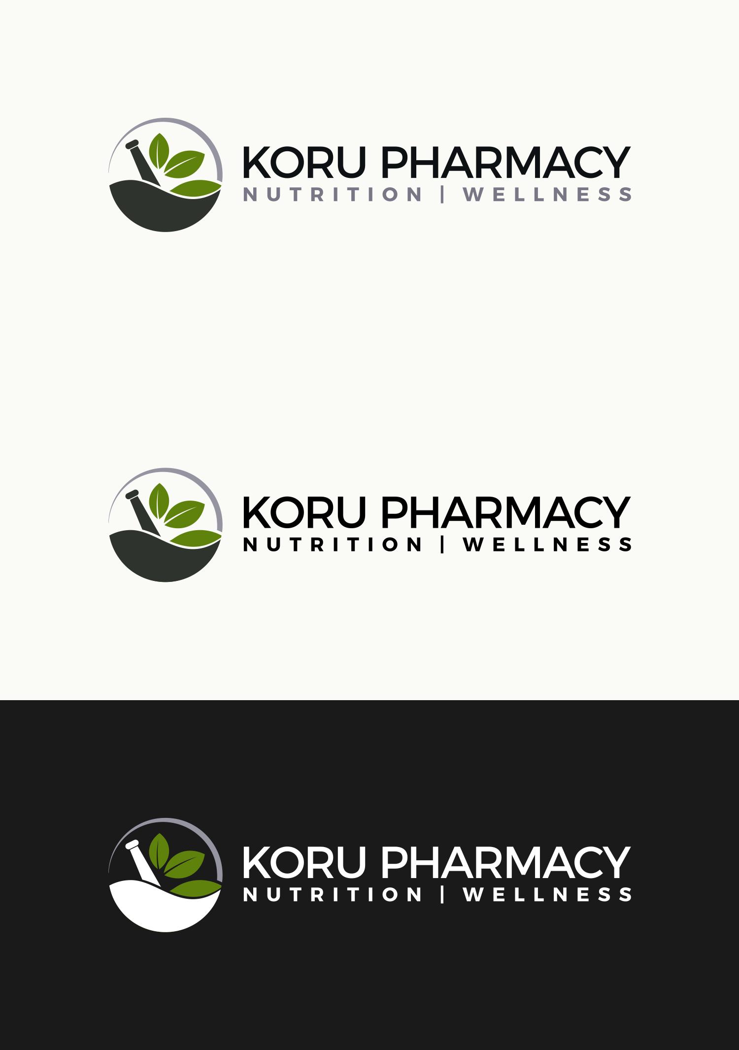 Design a modern logo for an integrative compounding pharmacy