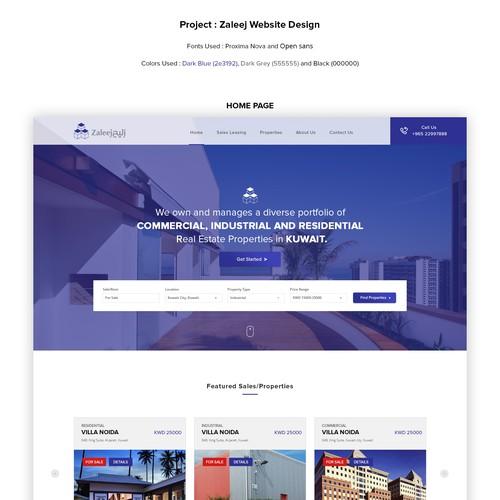 Website design for Zaleej