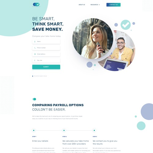 Website Design for Consulting Service - Contractor Market